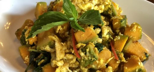 Stir Fried Pumpkin with Egg