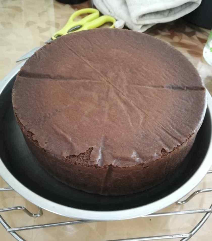 Chocolate Japanese Cheesecake