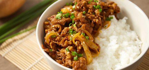 Korean pork recipe with Thai chili paste